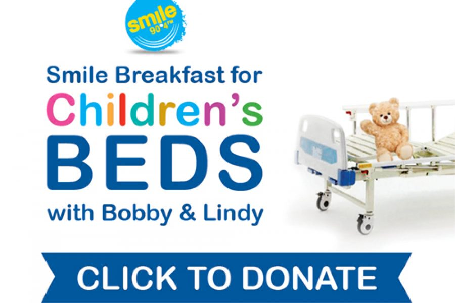 Smile Breakfast for Children's Beds with Bobby and Lindy
