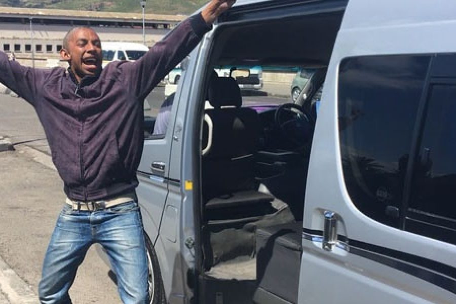Dancing in the street. A Cape Town guardjie is turning stressful commuting into a joyride.