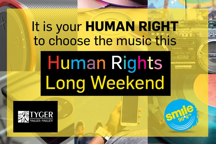 IT'S YOUR HUMAN RIGHT TO CHOOSE THE MUSIC ON HUMAN RIGHTS LONG WEEKEND!