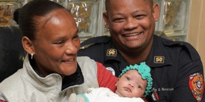 EMOTIONAL REUNION AFTER FIREFIGHTERS SAVE BABY