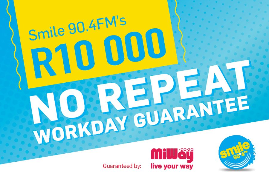 Smile 90.4FM's R10k No Repeat Workday