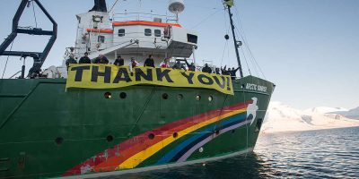 GREENPEACE'S ARCTIC SUNRISE TO DOCK IN CT
