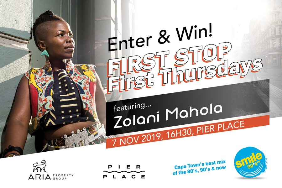 Win 1 of 8 VIP Passes to First Stop First Thursday featuring Zolani Mahola