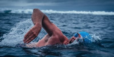 LEWIS PUGH PLANS TO SWIM ACROSS A FREEZING LAKE IN ANTARCTICA