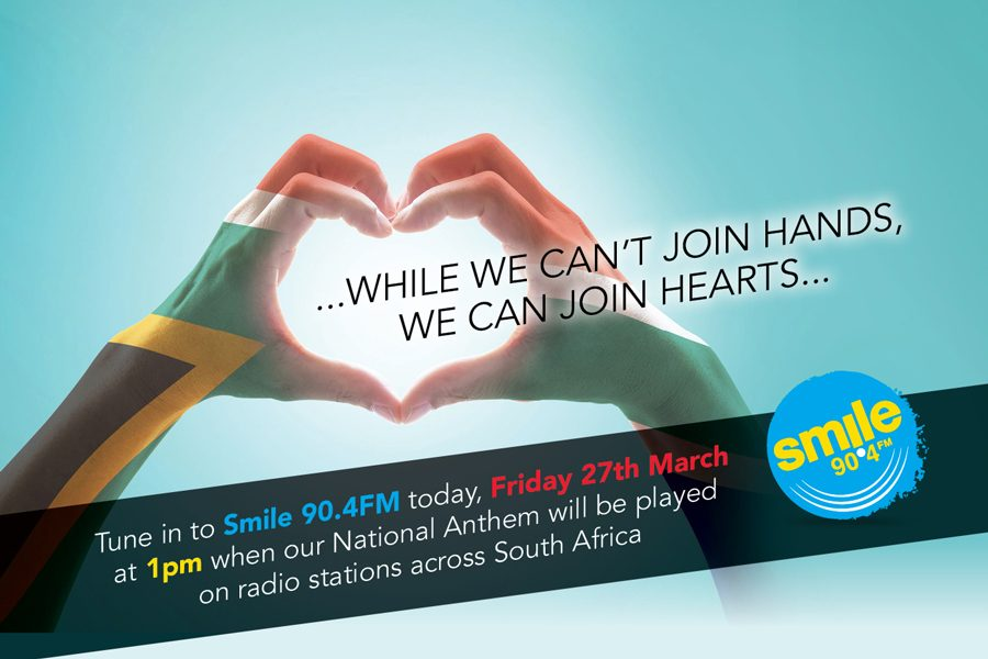 We can't join hands, so let's join hearts – SA National Anthem Fridays