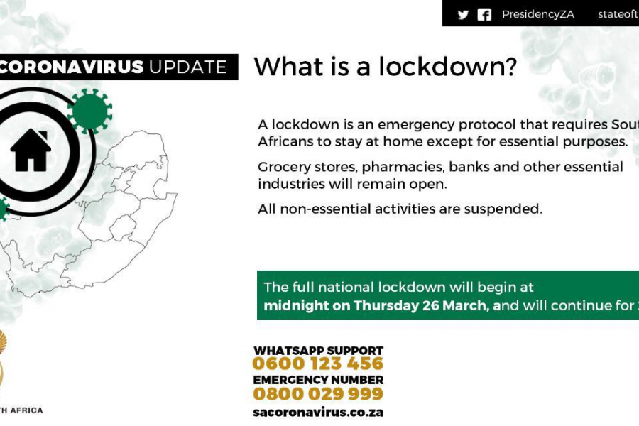 13 KEY POINTS FROM RAMAPHOSA'S LOCKDOWN ANNOUNCEMENT