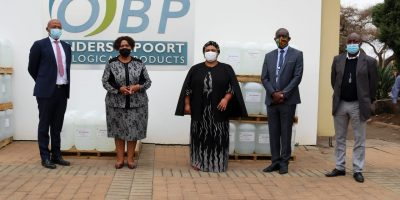 90000 litres of hand-sanitizer donated to D.B.E.