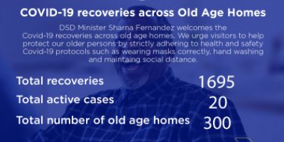 Help prevent spread of covid-19 at old-age homes
