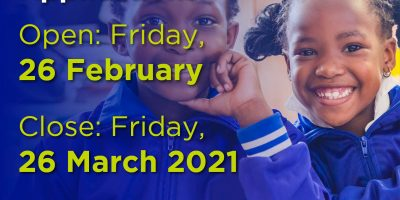 Deadline for 2021 school applications on 26 March 2020
