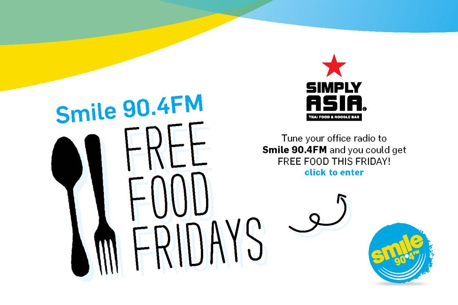 Free Food Fridays with Smile 90.4FM and Simply Asia