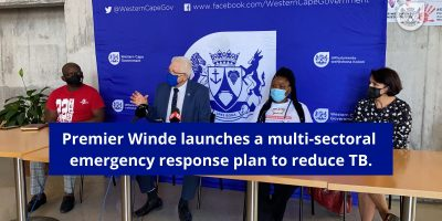 Western Cape launches TB Emergency Response Plan