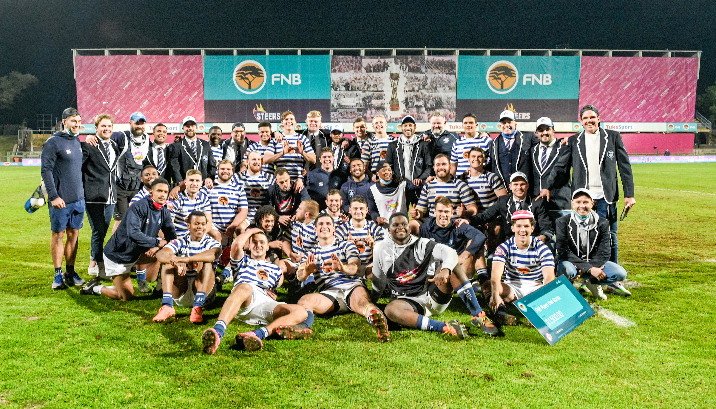 UCT Ikeys squad after their FNB Varsity Cup semifinal win over NWU