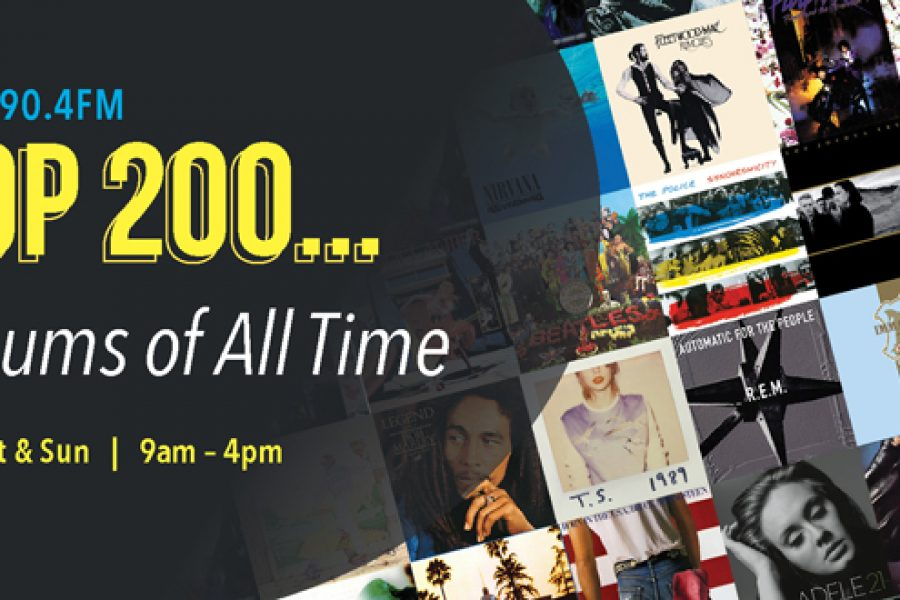 Smile 90.4FM Top 200 Weekends – Greatest Albums Of All Time