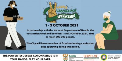 City gearing up for 'Vooma' vaccination weekend – the aim is to reach at least 500 000 people countrywide